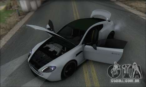 Aston Martin V12 Vantage S 2013 para GTA San Andreas interior