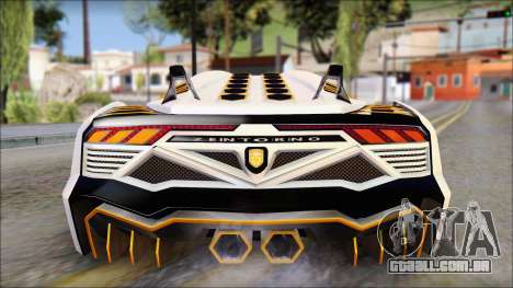 Pegassi Zentorno from GTA 5 v3 para vista lateral GTA San Andreas