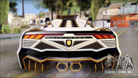 Pegassi Zentorno from GTA 5 v3 para vista lateral GTA San Andreas