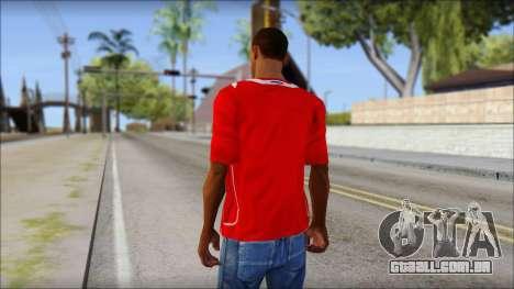 Chile T-Shirt para GTA San Andreas segunda tela