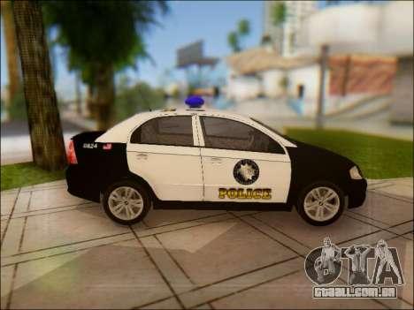 Chevrolet Aveo Police para GTA San Andreas vista interior