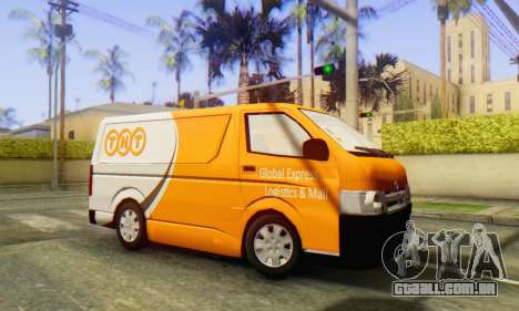 Toyota Hiace TNT Cargo Van 2006 para GTA San Andreas esquerda vista