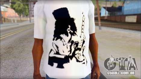 Slash T-Shirt para GTA San Andreas terceira tela