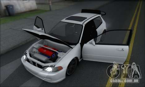 Honda Civic 1995 para vista lateral GTA San Andreas