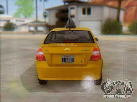 Chevrolet Aveo Taxi para GTA San Andreas vista interior