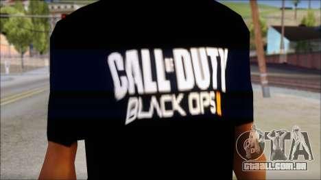 COD Black Ops 2 Fan T-Shirt para GTA San Andreas terceira tela