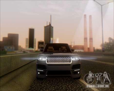 Land Rover Range Rover Startech para GTA San Andreas esquerda vista