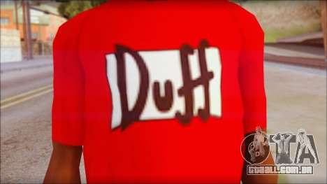 Duff T-Shirt para GTA San Andreas terceira tela
