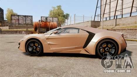 Lykan HyperSport para GTA 4 esquerda vista