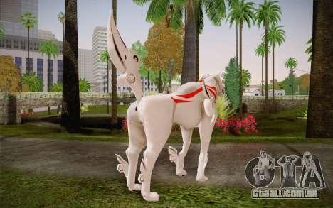 Amaterasu Okami para GTA San Andreas segunda tela