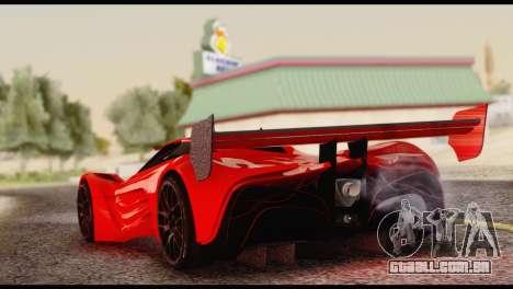 Mazda Furai 2008 para GTA San Andreas esquerda vista