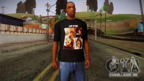 The Beatles Let It Be T-Shirt para GTA San Andreas
