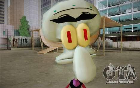 Squilliam from Sponge Bob para GTA San Andreas terceira tela