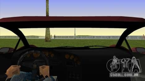 Zentorno from GTA 5 v2 para GTA Vice City vista traseira esquerda