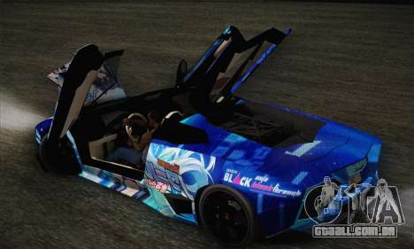 Lamborghini Reventon Black Heart Edition para GTA San Andreas vista superior