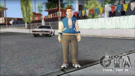 Ted from Bully Scholarship Edition para GTA San Andreas segunda tela