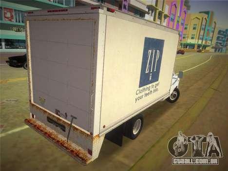 Ford E-350 1988 Cube Truck para GTA Vice City deixou vista