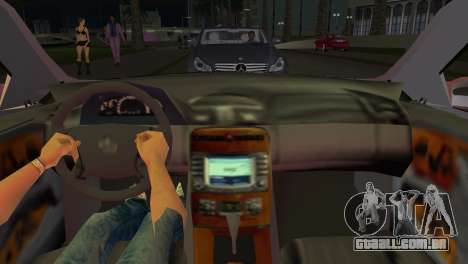 Mercedes-Benz CL65 AMG para GTA Vice City vista traseira esquerda