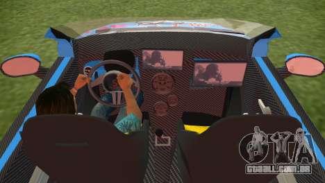 Fiat 500 ZTuning para GTA Vice City vista traseira esquerda