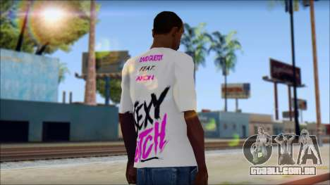 David Guetta Sexy Bitch T-Shirt para GTA San Andreas segunda tela