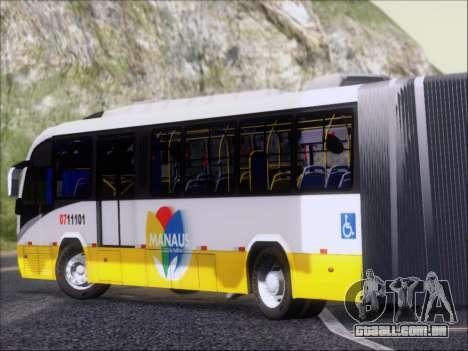 Neobus Mega BRT Volvo B12M-340M para GTA San Andreas traseira esquerda vista