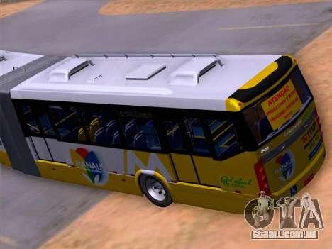 Прицеп Neobus Mega BHNS Volvo B12-340M para GTA San Andreas vista inferior