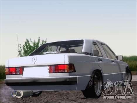 Mercedes Benz 190E Drift V8 para GTA San Andreas vista direita