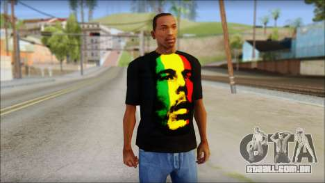 Bob Marley T-Shirt para GTA San Andreas