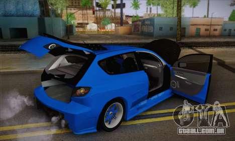 Mazda Speed 3 Tuning para GTA San Andreas vista traseira