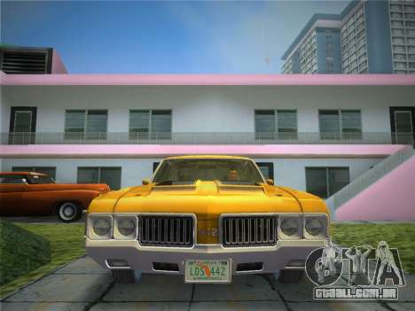 Oldsmobile 442 1970 para GTA Vice City vista traseira