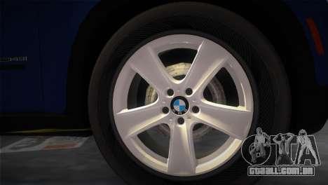 BMW X5 2009 para GTA Vice City vista traseira esquerda