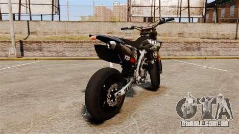 Yamaha YZF-450 v1.7 para GTA 4 traseira esquerda vista