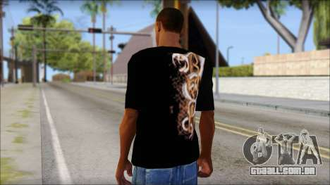 Randy Orton Black Apex Predator T-Shirt para GTA San Andreas segunda tela