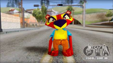 Chang the Firefox from Fur Fighters Playable para GTA San Andreas segunda tela