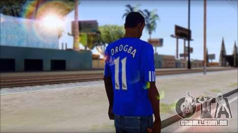 Chelsea F.C Drogba 11 T-Shirt para GTA San Andreas segunda tela