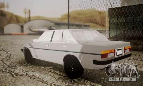 Toyota Cressida 1987 para GTA San Andreas esquerda vista