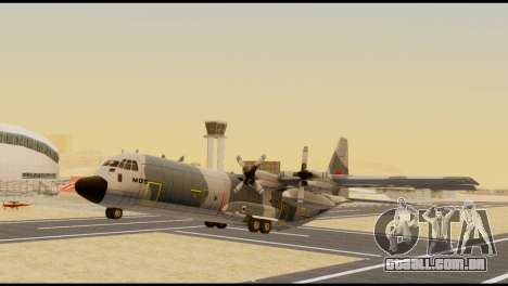 C-130 Hercules Indonesia Air Force para GTA San Andreas vista direita