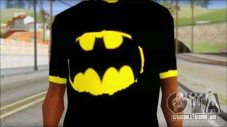 Batman T-Shirt para GTA San Andreas terceira tela