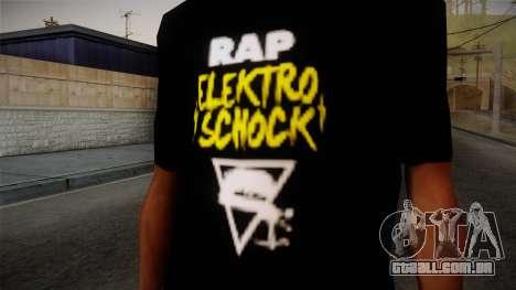Silla Rap Elektro Schock Shirt para GTA San Andreas terceira tela
