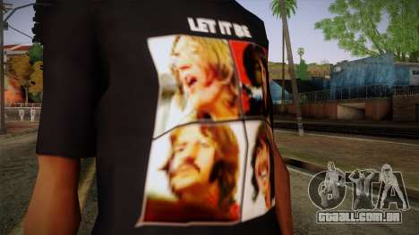 The Beatles Let It Be T-Shirt para GTA San Andreas terceira tela