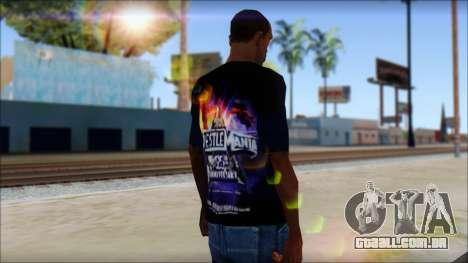 Wrestle Mania T-Shirt v1 para GTA San Andreas segunda tela