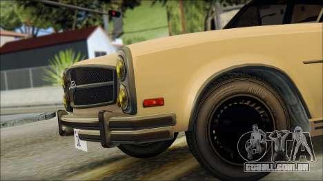 Benefactor Glendale from GTA 5 para GTA San Andreas traseira esquerda vista