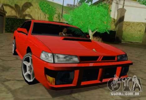Sultan Coupe para GTA San Andreas esquerda vista