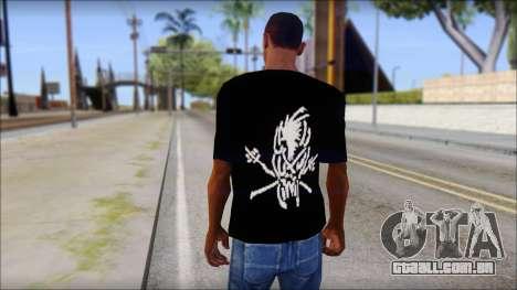 Metallica Logos T-Shirt para GTA San Andreas segunda tela