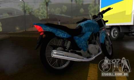 Yamaha YBR Blue Star para GTA San Andreas vista traseira