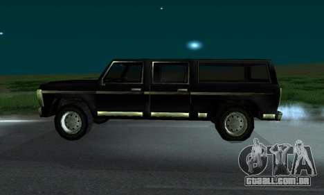 New FBI Rancher para GTA San Andreas traseira esquerda vista