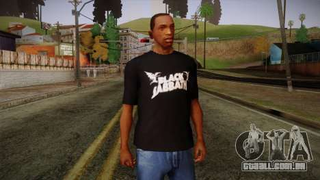 Black Sabbath T-Shirt para GTA San Andreas