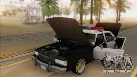 Chevrolet Caprice 1987 para GTA San Andreas vista direita