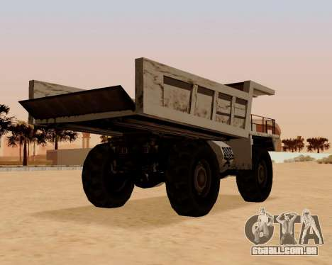 Atualizado Dumper para GTA San Andreas traseira esquerda vista