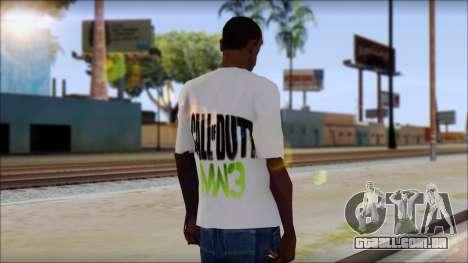 COD MW3 Fan T-Shirt para GTA San Andreas segunda tela